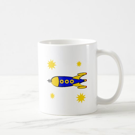 A la nave espacial retra de la luna taza