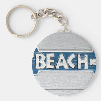A la playa llavero redondo tipo pin