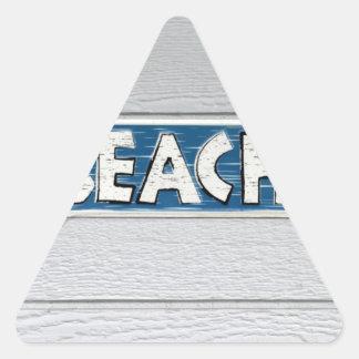 A la playa pegatina triangulo