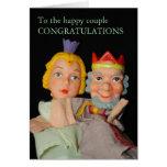 A la tarjeta feliz del coupleCONGRATULATIONS…