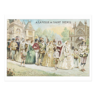 A La Ville de Saint Denis Victorian Postcard