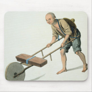 A Labourer, plate 27 from 'The Costume of China', Mouse Pad