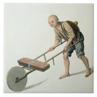 A Labourer, plate 27 from 'The Costume of China', Tile