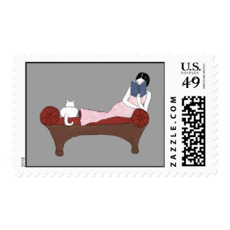 A Lady, A Cat and A Very Good Book Postage