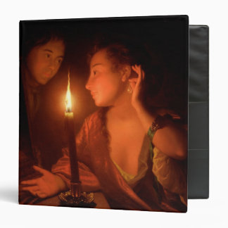 A Lady Admiring An Earring by Candlelight Binder