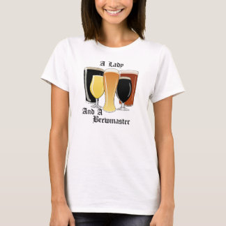 A Lady and a Brewmaster t-shirt