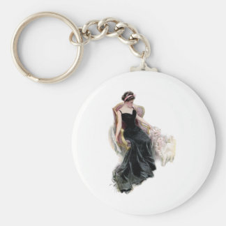 A Lady and Her Cats Keychain
