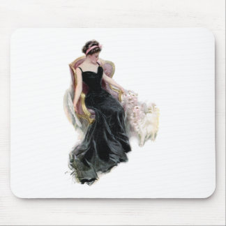 A Lady and Her Cats Mouse Pad