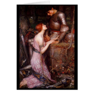 A Lady and Her Knight Greeting Card