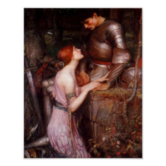A Lady and Her Knight Romantic Poster