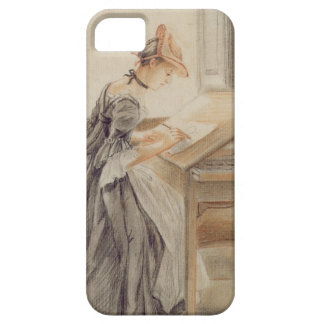 A Lady Copying at a Drawing Table c 1760-70 grap iPhone 5 Cover