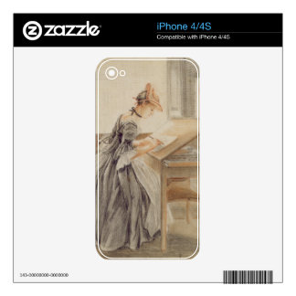 A Lady Copying at a Drawing Table, c.1760-70 (grap iPhone 4S Decals