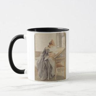 A Lady Copying at a Drawing Table, c.1760-70 (grap Mug