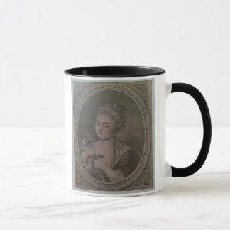 A Lady Drinking Chocolate (colour litho) Mug