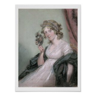 A Lady Holding a Negro Mask, c.1795-80 (pastel on Poster