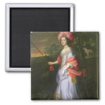 A Lady in Masquerade Costume, c.1679 2 Inch Square Magnet