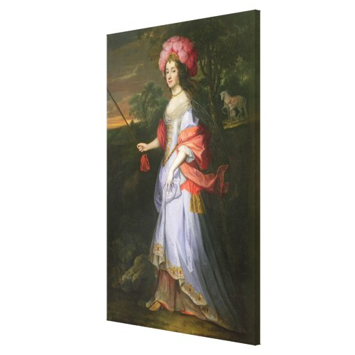 A Lady in Masquerade Costume, c.1679 Canvas Print