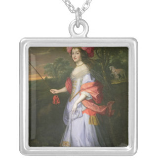 A Lady in Masquerade Costume, c.1679 Silver Plated Necklace