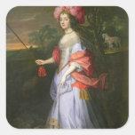 A Lady in Masquerade Costume, c.1679 Square Sticker