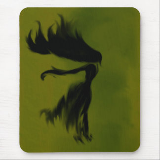 A Lady in Shadow Mouse Pad