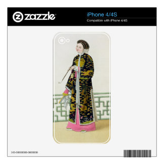 A Lady of Distinction in her Habit of Ceremony, pl Decals For iPhone 4