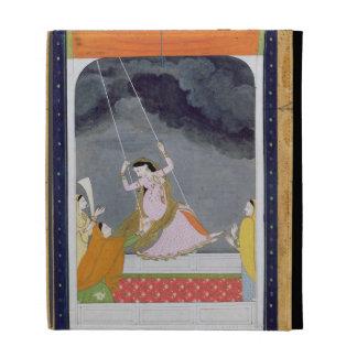 A lady on a swing, Kangra, Punjab hills c.1790 (op iPad Folio Cover