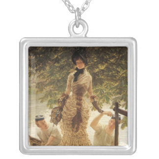 A Lady on the Thames Silver Plated Necklace
