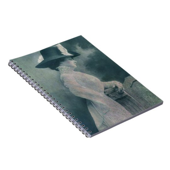 A Lady Ponders Spiral Notebook