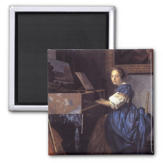 A Lady Seated at the Virginal Magnet