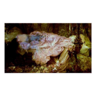 A Lady Sleeping Poster