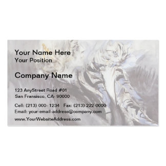 A Lady with a Cat by Giovanni Boldini Business Cards