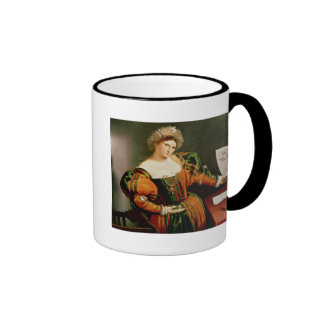 A Lady with a Drawing of Lucretia, c.1530-33 Ringer Coffee Mug
