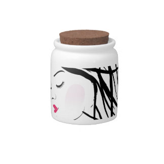 A lady with dreadlocks- dreadlock fashion graphic candy dish