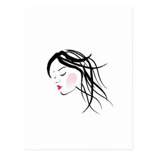 A lady with dreadlocks- dreadlock fashion graphic postcard