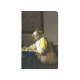 A Lady Writing by Vermeer Pocket Journal