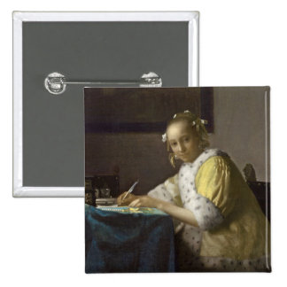 A Lady Writing, c. 1665 (oil on canvas) Buttons