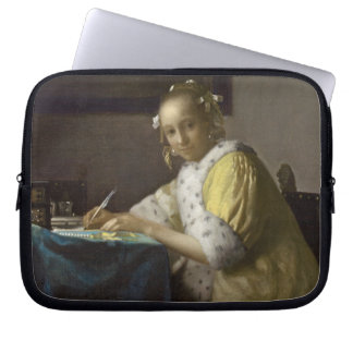 A Lady Writing, c. 1665 (oil on canvas) Laptop Computer Sleeves