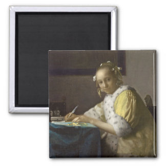 A Lady Writing, c. 1665 (oil on canvas) Magnet