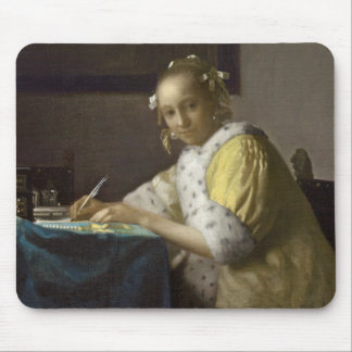 A Lady Writing, c. 1665 (oil on canvas) Mouse Pad
