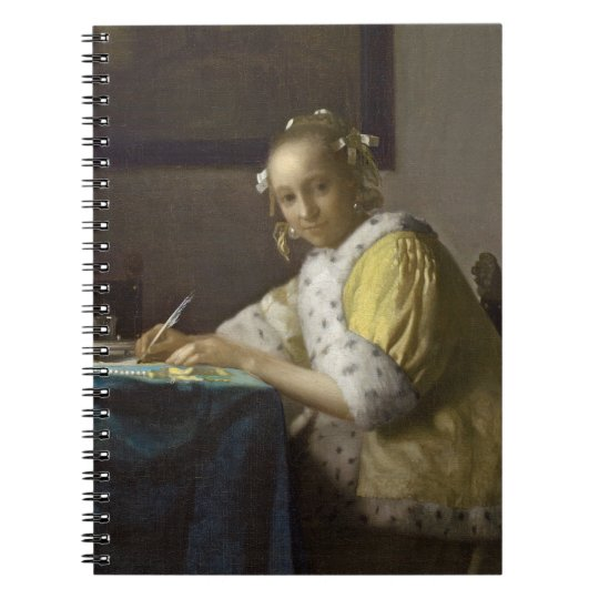 A Lady Writing, c. 1665 (oil on canvas) Notebook