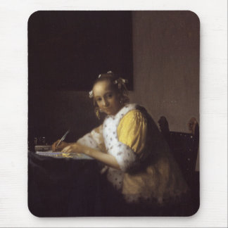 A Lady Writing Mouse Pad