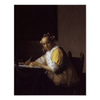 A Lady Writing Poster