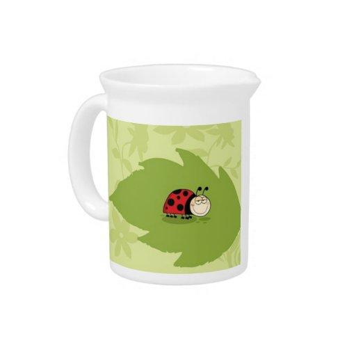 A Ladybug Beverage Pitchers