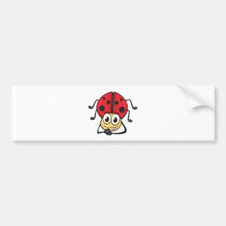 a ladybug car bumper sticker