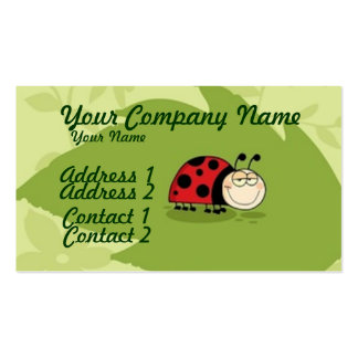 A Ladybug Business Card Template