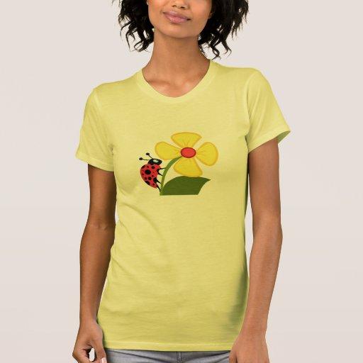 A Ladybug Flower T-shirt
