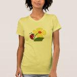 A Ladybug Flower T Shirt