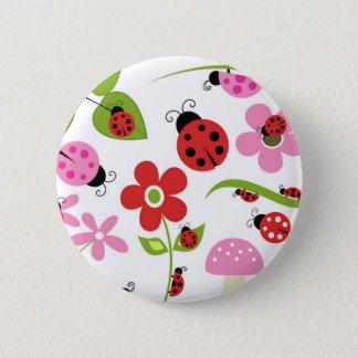 A Ladybug Garden Button