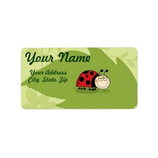 A Ladybug Label