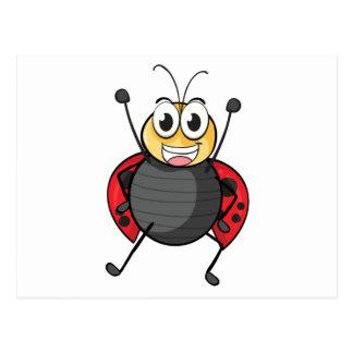a ladybug postcard